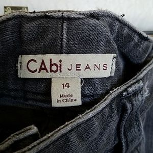 CAbi size 14 jeans in faded black